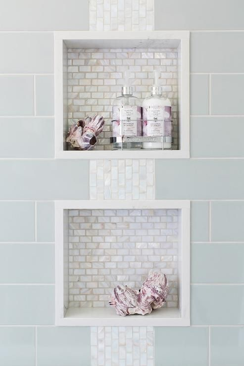 grey mother of pearl tile