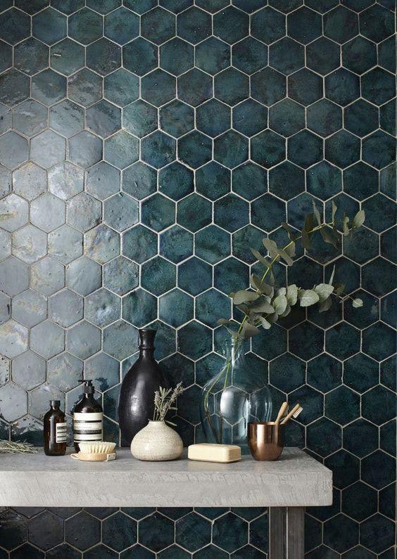 hexagon dark tile